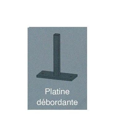 POTEAU + PLATINE Anthracite